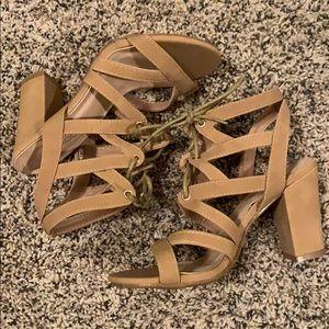 TOP MODA || Nude lace-up Heels